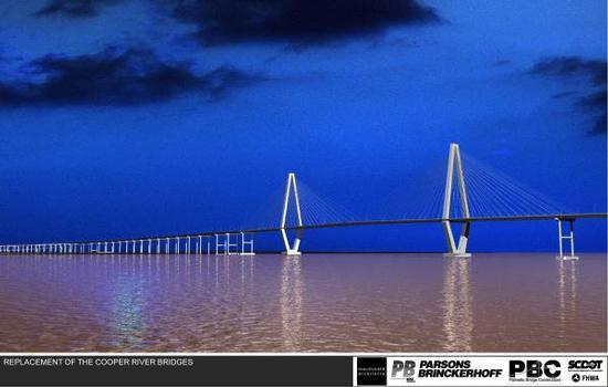 Pont pour remplacer les ponts sur le Cooper River