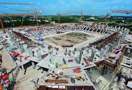 Mit 35.000 Sitzplätzen ist das neu erbaute Stadion in Lemberg der kleinste Austragungsort der EM 2012