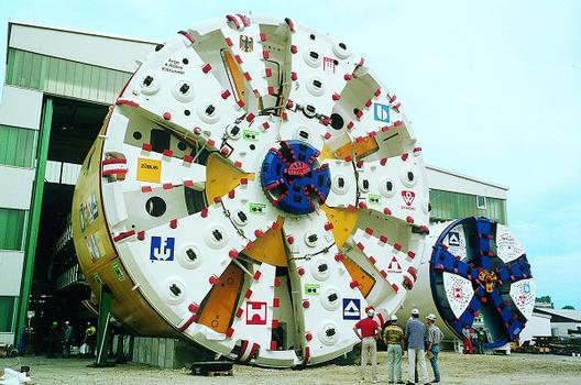 Elbtunnel 4. Röhre - Schildvortriebsmaschine
