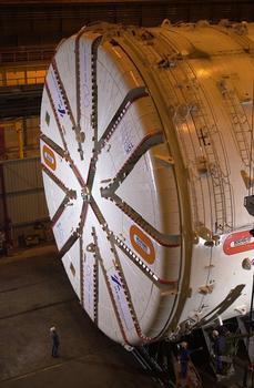 Tunnelbohrmaschine, die beim Bau des Groene-Hart-Tunnels benutzt wurde