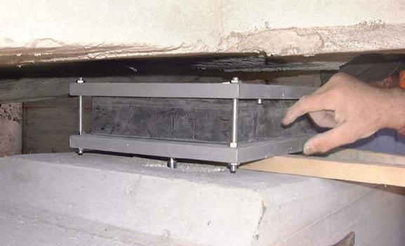 Elastomeric Bearing is placed between abutment and superstructure