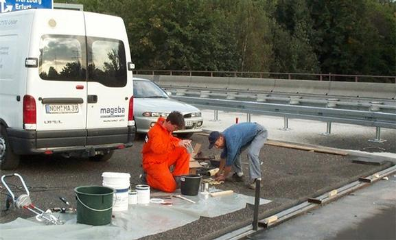 Travaux de préparation sur le chantier