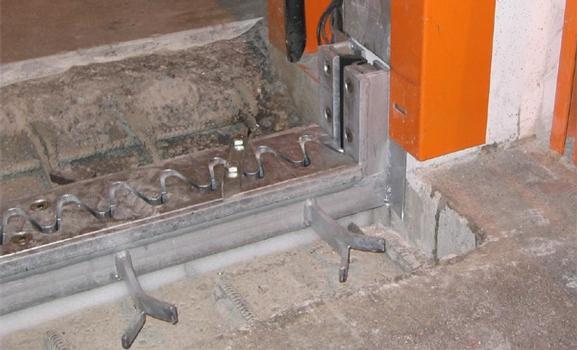 Detail of an installed RB Expansion Joint