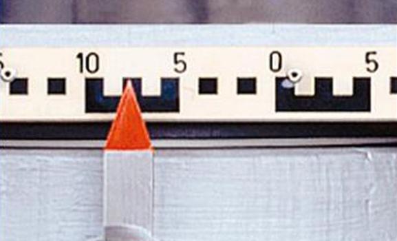 Arbeitsskala wird zur Messung der horizontalen Verschiebung benötigt