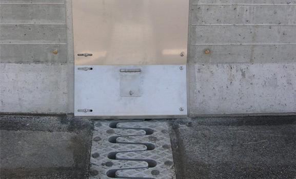 Exécution possible de la plaque de recouvrement en acier inoxydable