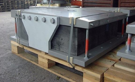 mageba ILM-Bearing built on an Elastomeric Bearing base