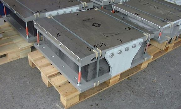 Stainless steel plate is important for a low-friction movement of the bridge