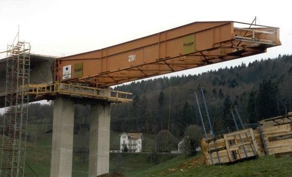 Vorschubnase der Taktschiebebrücke