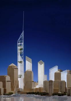 World Trade Center Study. View from Hudson River.