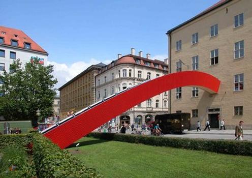 Temporäre Fußgängerbrücke am Architektenklub, Munich