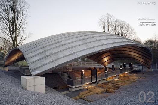 Überdachung der Ausgrabungsstätte St.-Antony-Hütte