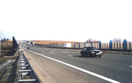 Autobahn A9 – Talbrücke Münchberg – Draufsicht