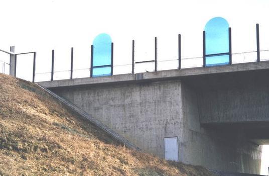 Autobahn A9 – Talbrücke Münchberg – Widerlager