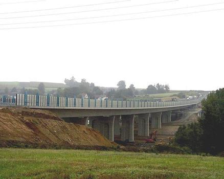 Autobahn A9 – Talbrücke Münchberg – Gesamtansicht
