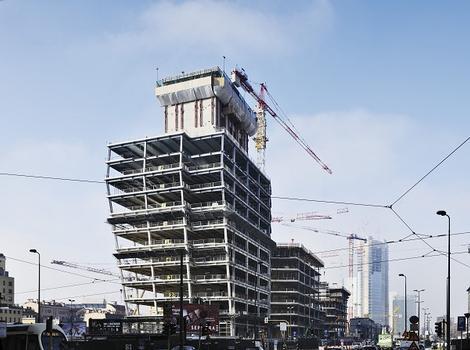 Für die imposante Tragstruktur bis in eine Höhe von 140 m zeichnet Stahlbau Pichler verantwortlich