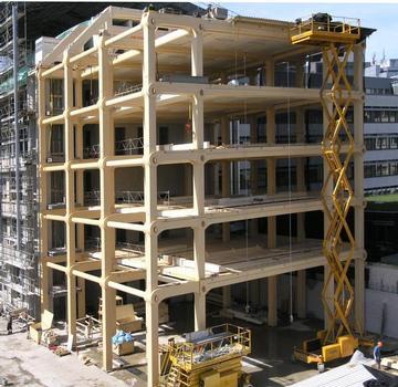 Siège social de Tamedia, Tamedia Headquarters, Tamedia-Hauptverwaltung, Der Holzbau kehrt mit einem 7geschossigen Bürogebäude in die Stadt zurück