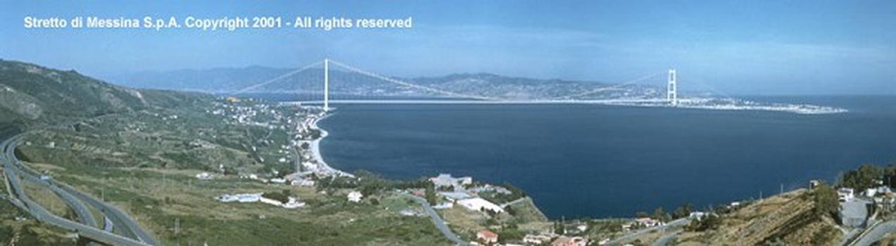Hängebrücke über die Meerenge von Messina, Ausschreibungsentwurf.