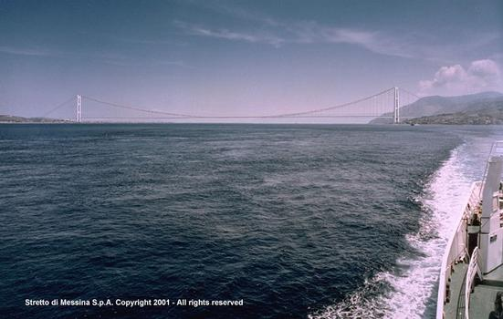 Messina Straits Bridge, preliminary design