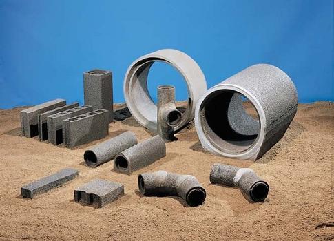 Dränstein Porosit, Schwerlast-Betonversickerrohre Dränit, Betonfilterrohre Porosit sowie Sonderbauteile und Zubehör