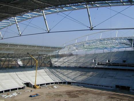 Zentralstadion Leipzigwährend der Bauphase