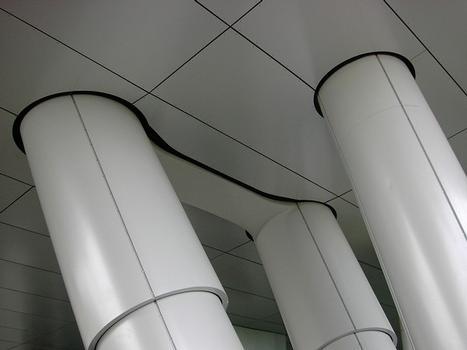 AirRail Terminal Stützenkonstruktion
