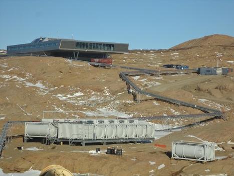 Neue Indische Forschungsstation auf den Larsemann Hills, Antarktis