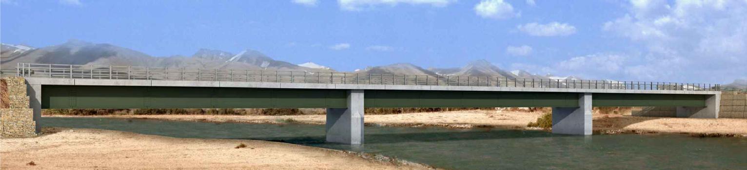 Mischa-Meier-Brücke über den Kundus - Computeranimation