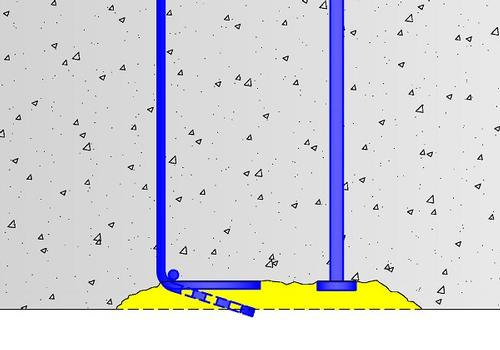 When using T-headed bars there is no danger of spalling of the concrete cover by straightening bends. In cases of lost cover the T-head can still develop the full tensile strength of the rebar. If bond is degraded in addition to spalling of the concrete cover (ex: plastic cyclic loading), the advantages of HRC T-heads can make a fundamental difference to the overall structural integrity