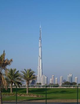 "With a height of 818 m, the ""Burdsch Chalifa"", better known as ""Burj Dubai"", built by Emaar Properties and planned by architect Adrian Smith, is the tallest building in the world"