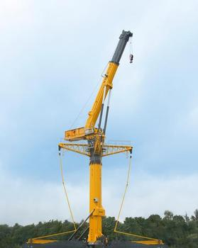 The GTK 1100 telescopic tower crane for the American manufacturer Grove is produced in Wilhelmshaven. It is ideal for applications requiring great lifting heights (e.g. wind turbines)