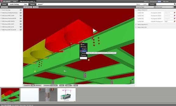 Tekla BIMsight erkennt Konstruktionsfehler und ermöglicht den Informationsaustausch zu Bauteilen und -gruppen