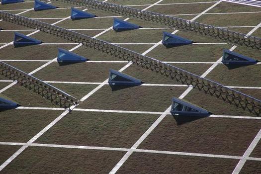 Für den technischen Aufbau der Solarmodulreihen stellte die vorhandene Dachneigung kein Problem dar