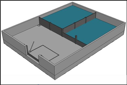 Testbecken des Instituts für Wasserbau der TUHH