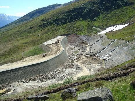 Westlicher Fallboden mit Damm
