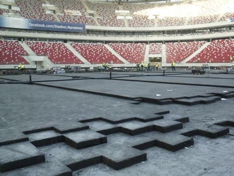 Ausgezeichnete Wärmedämmung sowie hohe Druckfestigkeit von Glapor für das neue Nationalstadion Warschau