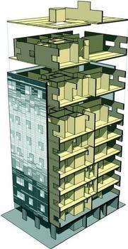 Auch im Inneren des Gebäudes kommen Massivholzelemente zum Einsatz