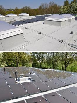 Die Stadt Remscheid zeigt am Beispiel der Hilda-Heinemann-Schule vorbildlich die Realisierung der Solaranlage auf dem frisch sanierten Bitumenbahn-Dach