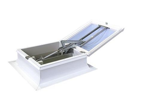 Elektrisch gesteuertes Öffnen und Schließen: der neue Rauch- und Wärmeabzug fumilux® 4000-EAZ