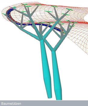 Design of the tree columns