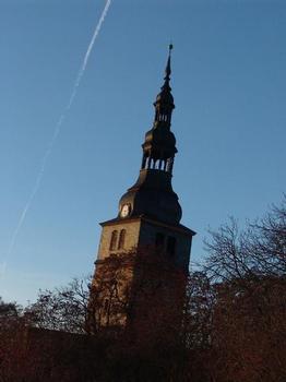 Kirchturm der Oberkirche Bad Frankenhausen (Ansicht von Südosten)