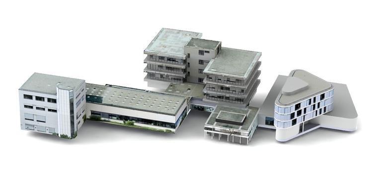 3D-Gebäudemodell des Fraunhofer IZFP auf Basis von UAS-Inspektionsdaten