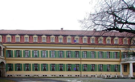 Stadtschloss Sonderhausen: Südwest-Fassade
