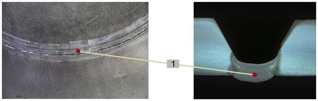 Wurzellage(1): Mit MAG-coldArc® nahezu 40 Prozent schneller schweißen