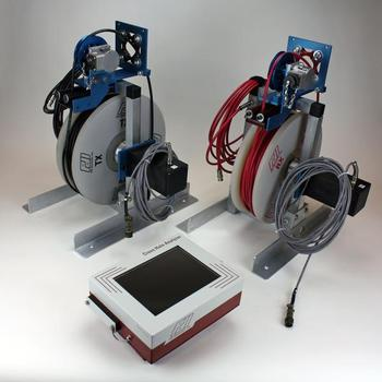 The Motorized Probe Deployment System keeps the cables neatly organized on the spool, and allows the tester to gather information at a consistent speed