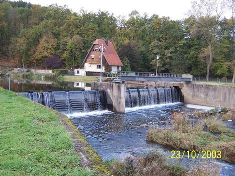 Wehranlage an der Diemel in Niedermarsberg