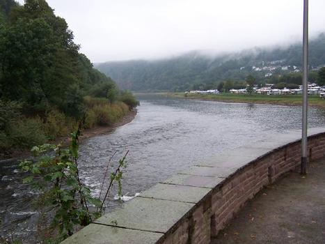 Mündung der Diemel in die Weser in Bad Karlshafen