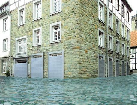 Wirkungsvoller Hochwasser- und Gebäudeschutz mit der Stahlwand WP WASTO
