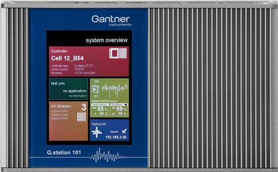 Test Controller Q.station 101: intelligente Lösungen von Gantner Instruments, um Messsignale dynamisch oder in Zeitabständen von mehreren Stunden zu erfassen, auf Massenspeicher abzulegen oder direkt zu versenden