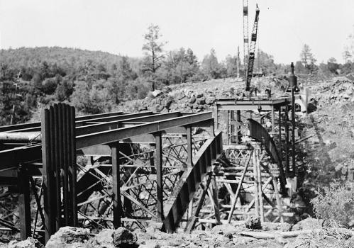 Cedar Canyon Bridge, Spanning Cedar Canyon at Highway 60, Show Low vicinity, Navajo County, AZ (HAER, ARIZ,9-SHLO.V,1-20)