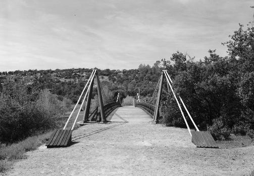 Bidwell Bar Suspension Bridge (HAER CAL,4-ORO.V,1-1)